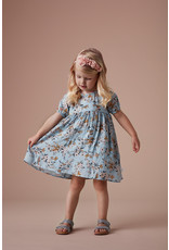 "Creamie Creamie Dress Flower Dobby-""Celestial Blue"""