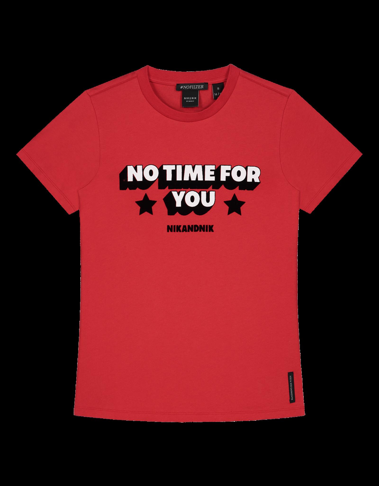 Nik&Nik NIK&NIK No Time T-shirt Poppy Red