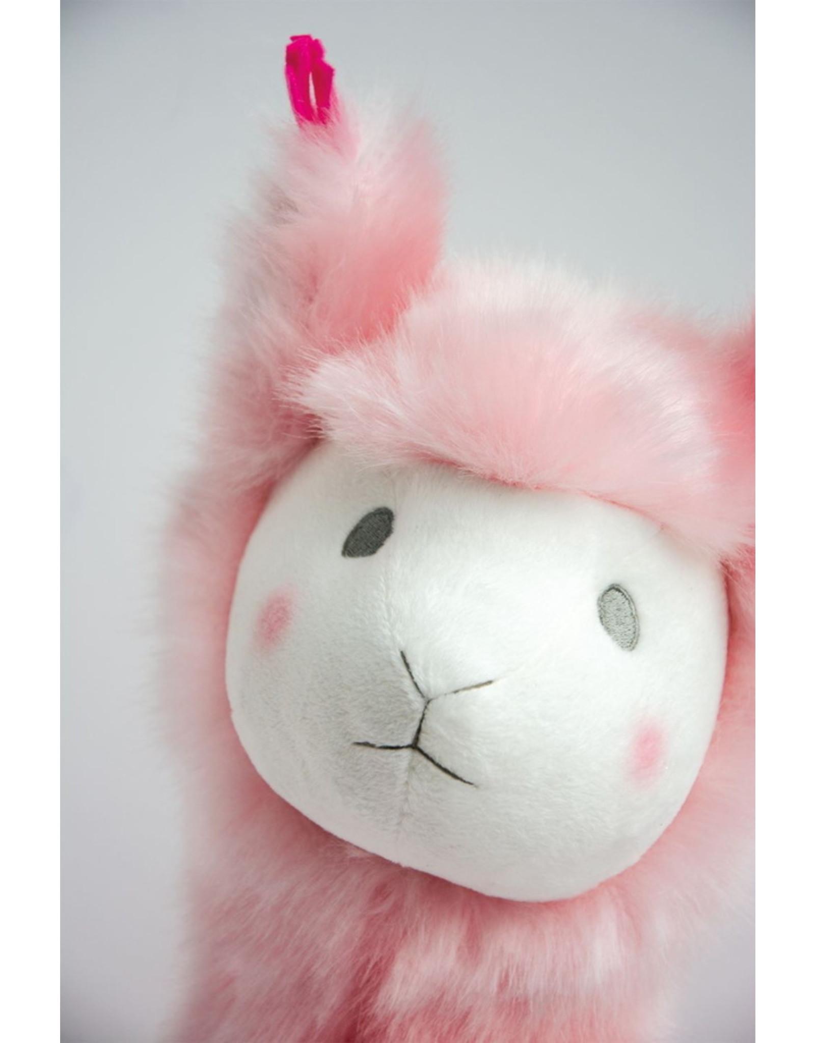 Doudou et compagnie Doudou Lama rose - 50 cm
