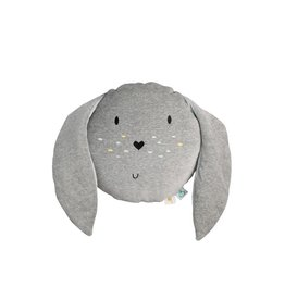 Doudou et compagnie WigiWama  Toy Cushion Bunny Grey
