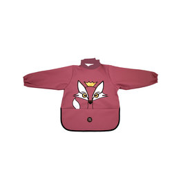 Baby Livia Baby Livia Long sleeve bib - Fox blush burgundy