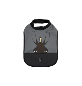 Baby Livia Baby Livia High neck bib - Moose charcoal