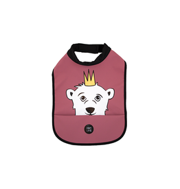 Baby Livia Baby Livia High neck bib - Polar bear blushy burgundy
