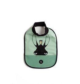 Baby Livia Baby Livia High neck bib - Moose powder green