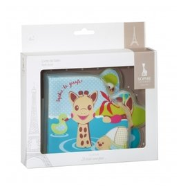 kleine giraf Sophie de Giraf Badboekje in wit geschenkdoosje