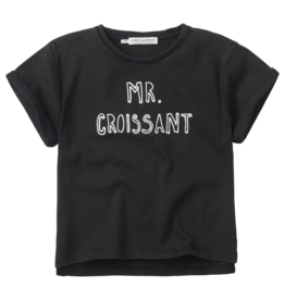 Sproet & Sprout Sproet & Sprout T-shirt Mr. Croissant Washed Black