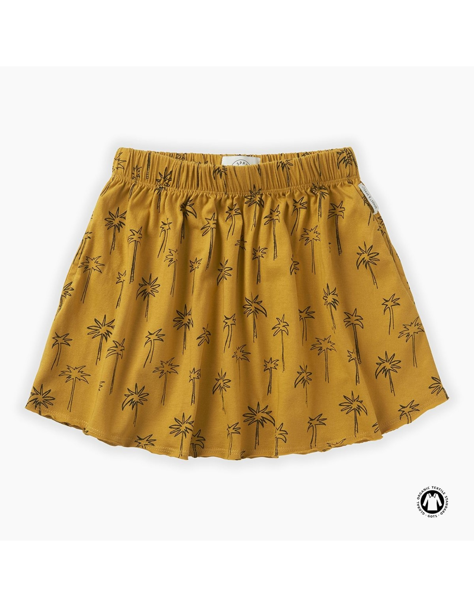 Sproet & Sprout Sproet & Sprout Skirt Print Palm Tree Curcuma