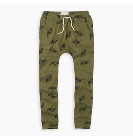 Sproet & Sprout Sproet & Sprout Sweatpants Print Cockatoo Tropical Green