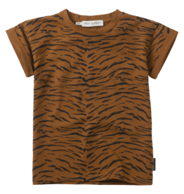 Sproet & Sprout Sproet & Sprout T-shirt Print Tiger Caramel