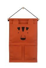 Jollein Jollein Wandorganizer Canvas Animal Club Rust