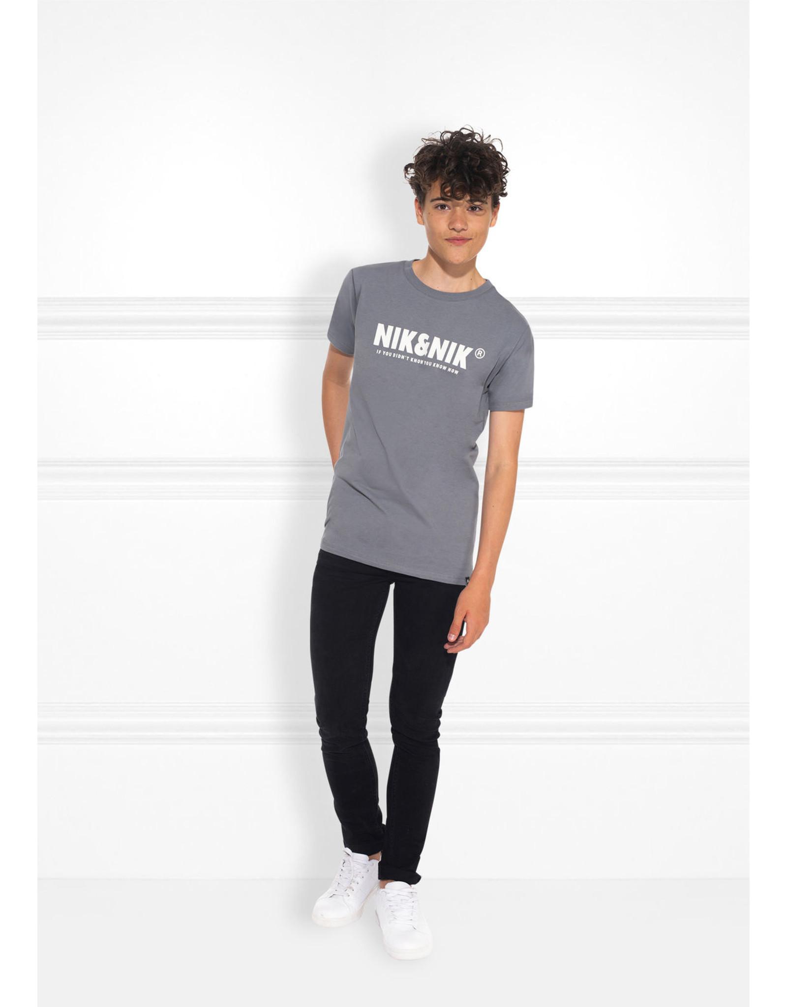 Nik&Nik NIK&NIK - You Know T-Shirt Stone Grey