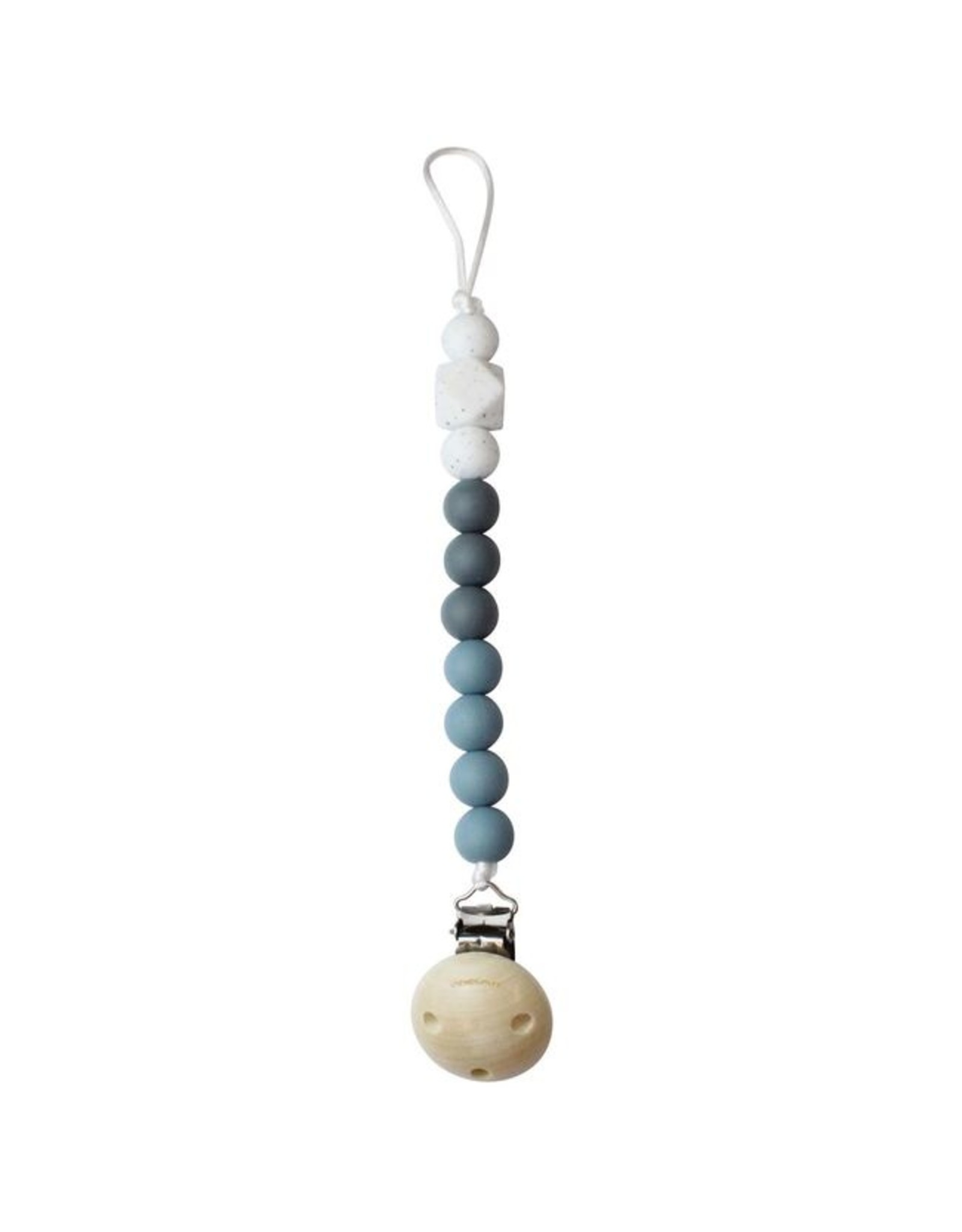 Chewies and More Chewie Clip Silicone Beads- Deep Blue-Dusty Blue-Marble