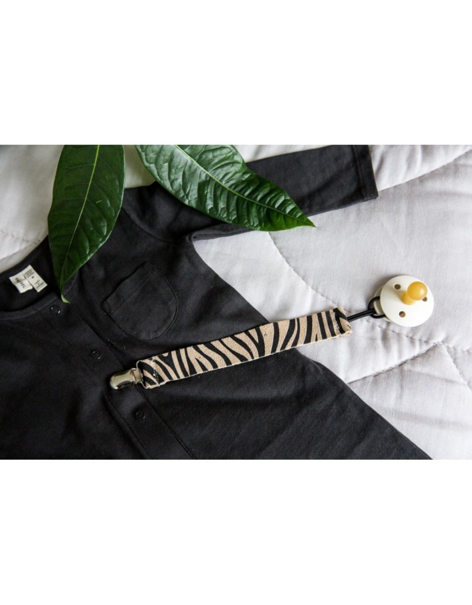 Mockies Mockies Speenkoord Clip Zebra