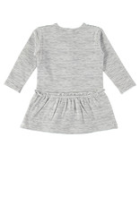"Little Bampidano Bampidano-Girls Dress L/S With Bow-""Black/White"""
