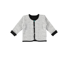 "Little Bampidano Bampidano-Reversible Cardigan-""Black/White"""