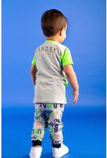 "B.Nosy B.Nosy-Baby Boys Sweat Pants AOP Letter-""B.Happy"""