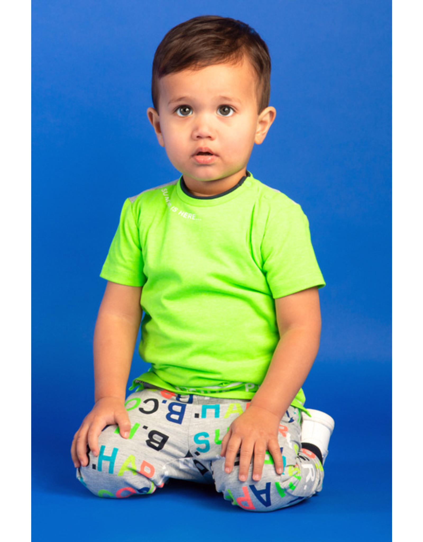 "B.Nosy B.Nosy-Baby Boys Short Sleeve Shirt-""Gecko Green"""