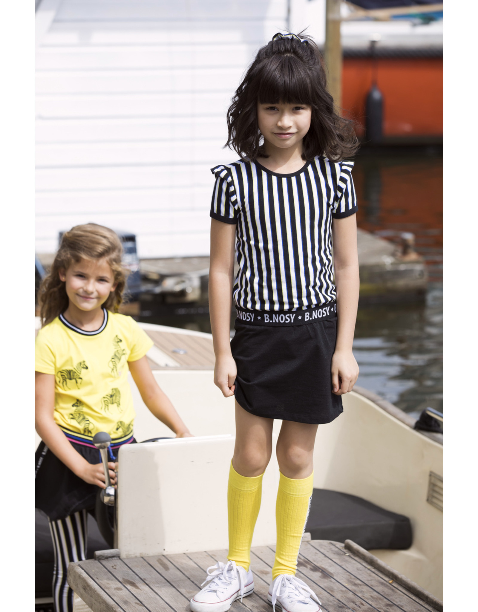 "B.Nosy B.Nosy-Girls Dress With YDS Top-Lurex Skirt""Color Stripe"""