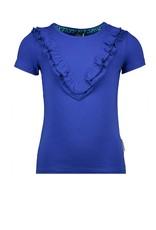 B.Nosy B.Nosy Girls shirt with ruffle Princess Blue