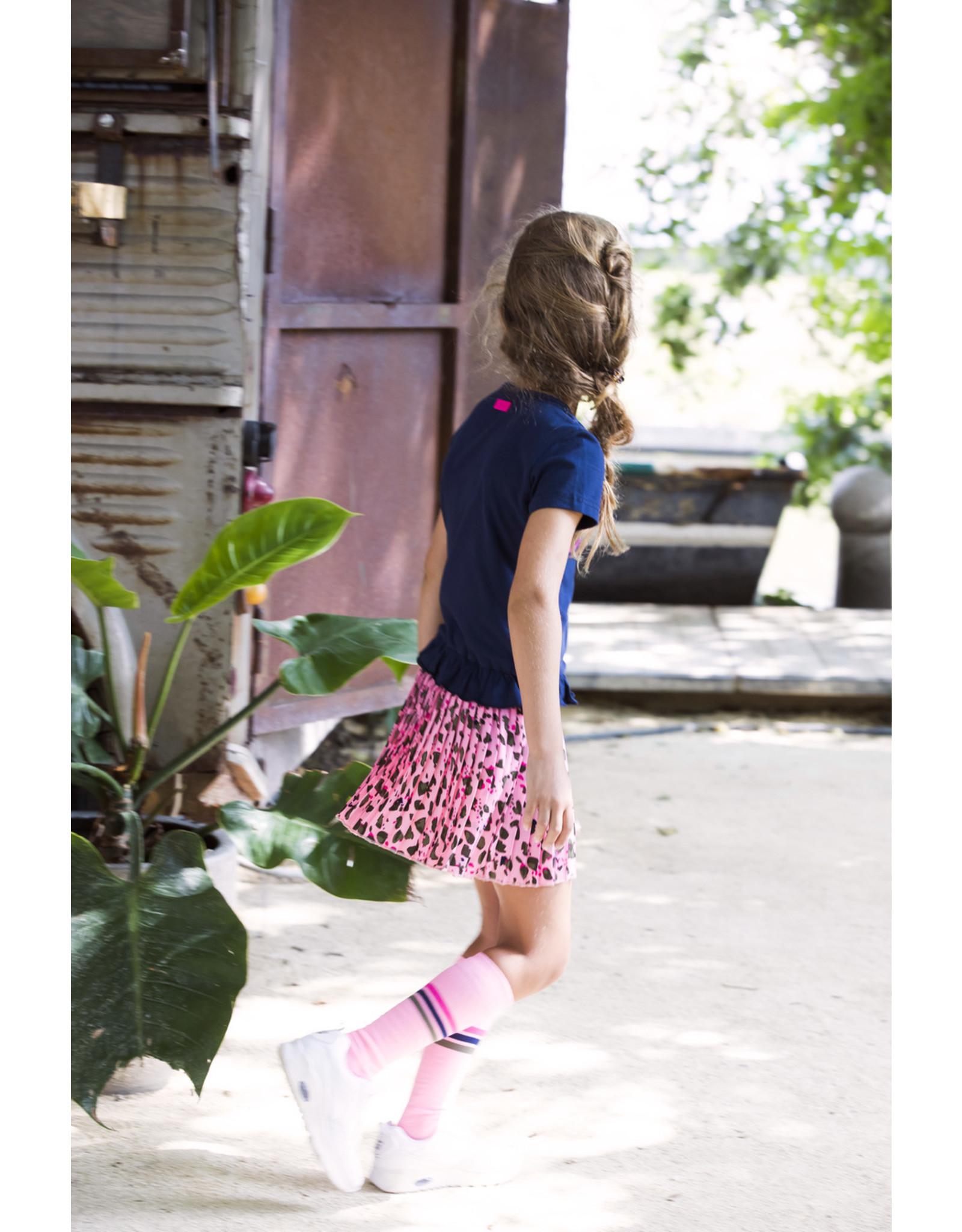 """B.Nosy B.Nosy-Girls Militairy Socks-""""Sorbet"""""""