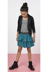 "Like Flo Like Flo-Girls Imi Leather Biker Jacket-""Black"""