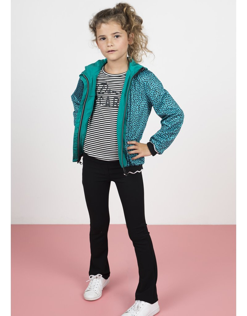 "Like Flo Like Flo-Girls Hooded Summer Jacket-""Turquoise"""