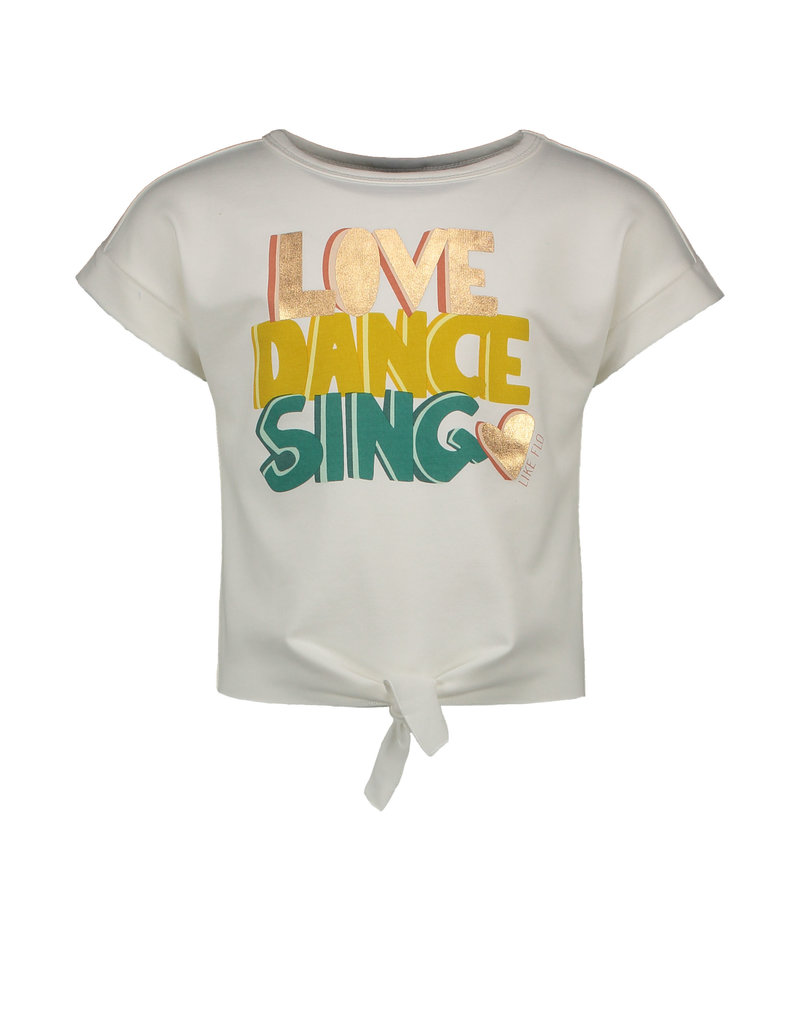 """Like Flo Like Flo-Girls Knotted Sweat Love Dance Sing""""Off White"""""""