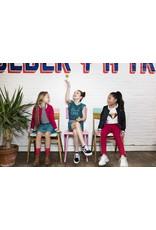 """Like Flo Like Flo-Girls AO Shiny Jersey Plissé Skirt-""""Turquoise"""""""