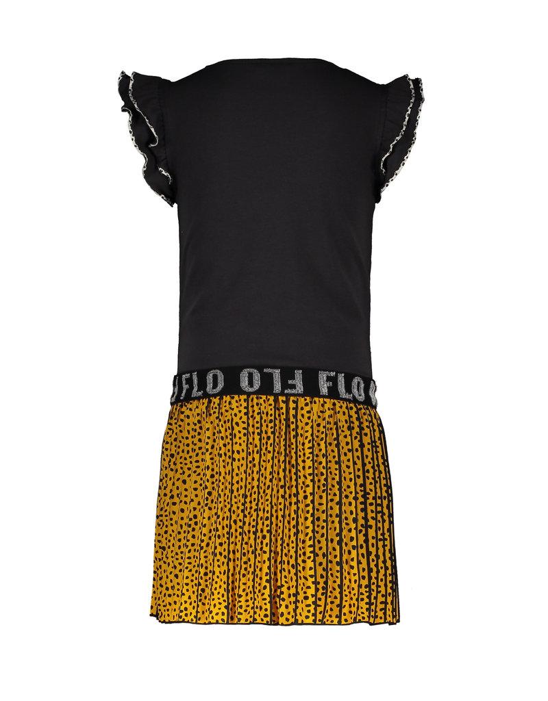 """Like Flo Like Flo-Girls Ruffle Jersey Dress AO Plissé Skirt-""""Oker"""""""