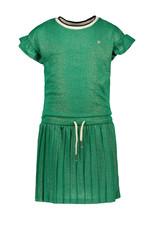 """Like Flo Like Flo-Girls Metallic Jersey Dress-""""Sea Green"""""""