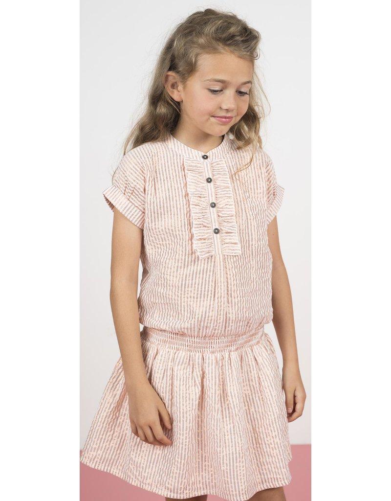 """Like Flo Like Flo-Girls Woven Lurex Stripe Dress-""""Rose Lurex"""""""