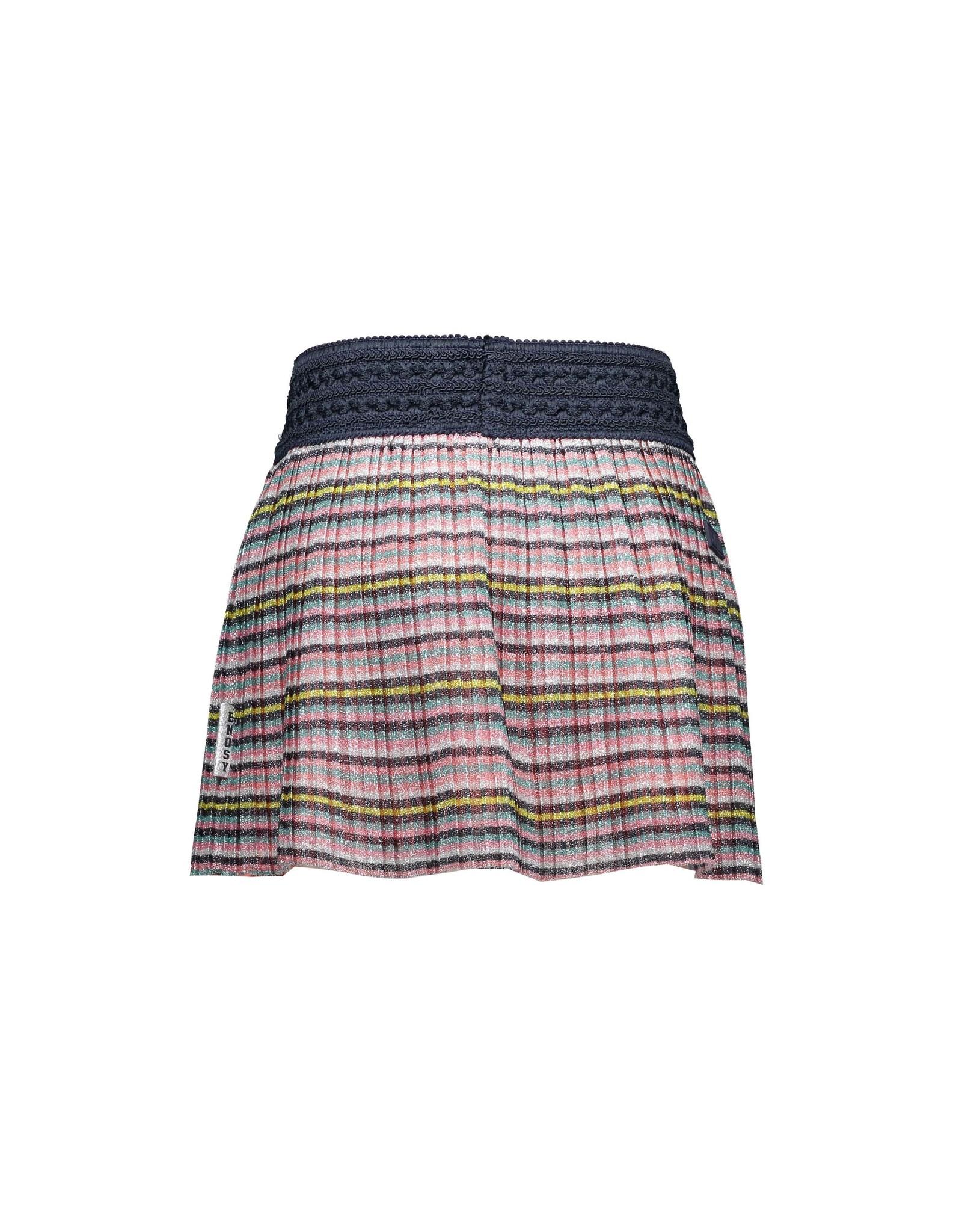 "B.Nosy B.Nosy-Girls Multi Color Plissé Skirt-""MultiStripeGlitter"""