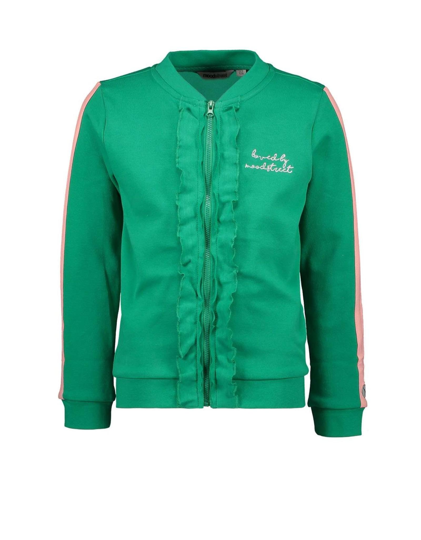 "Moodstreet Moodstreet-MT Vest With Frills-""Green"""