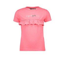 "Moodstreet Moodstreet-MT T-Shirt Chest Frills-""Diva Pink"""