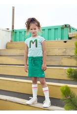 """Moodstreet Moodstreet-MT Sporty Dress Stripe-""""Green"""""""