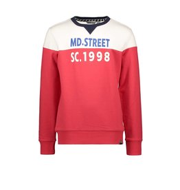 "Moodstreet Moodstreet-MT Sweater Cut&Sewn-""Red"""