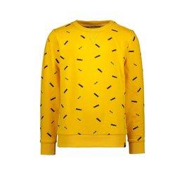 "Moodstreet Moodstreet-MT Sweater AOP Skate-""Dark Yellow"""