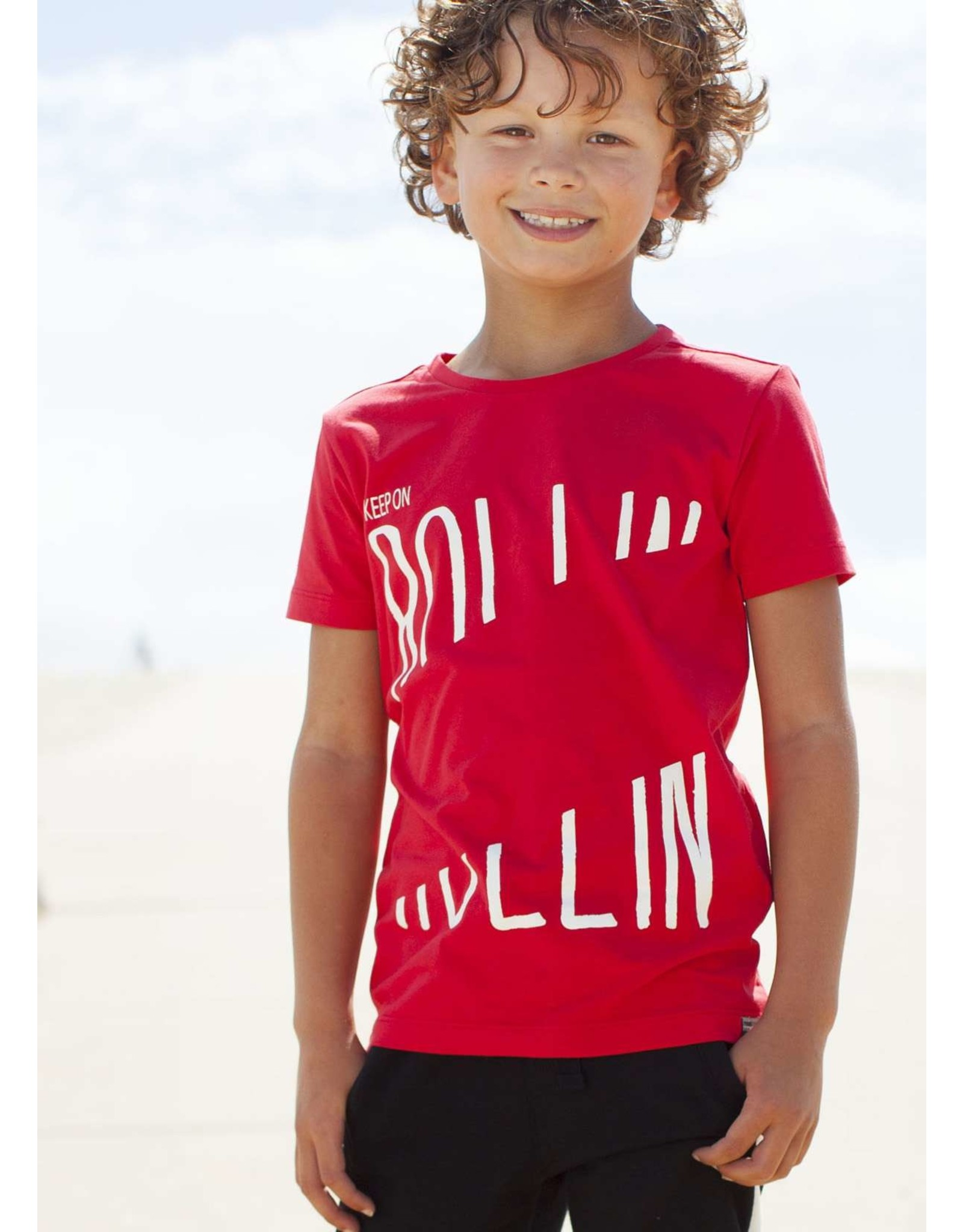 "Moodstreet Moodstreet-MT T-Shirt Chestprint-""Red"""