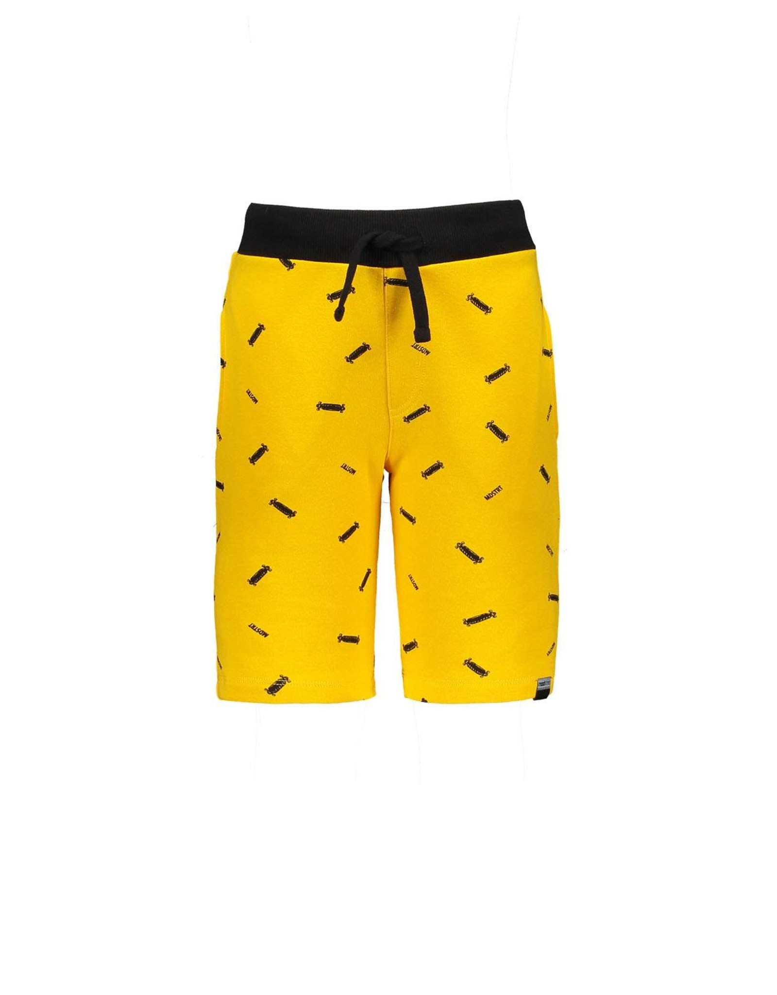 "Moodstreet Moodstreet-MT Short AOP Logo-""Dark Yellow"""