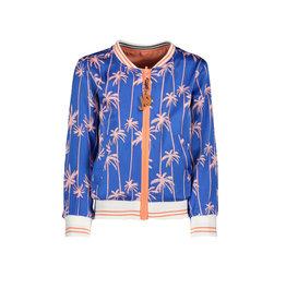 "NONO NONO-Donna Reversible Satin Jacket-""Palace Blue"""