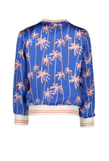 "NONO NONO-Donna Reversible Satin Jacket-""Palace Blue"""