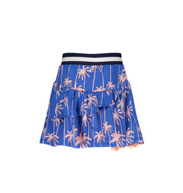 "NONO NONO- Satin Reversibel Skirt With Lace-""Palace Blue"""