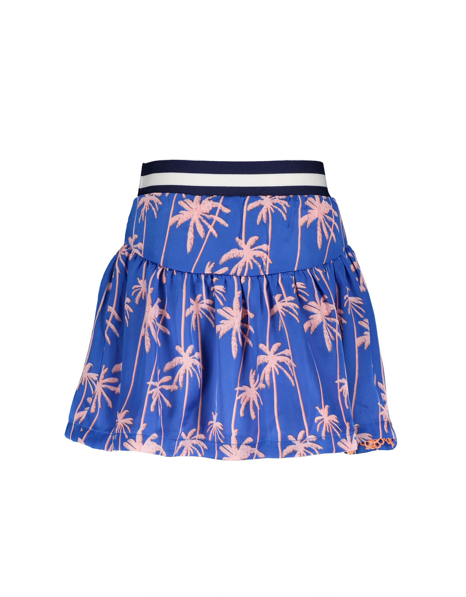 "NONO NONO- Satin Reversibel Skirt With Lace-""Palace Blue"""