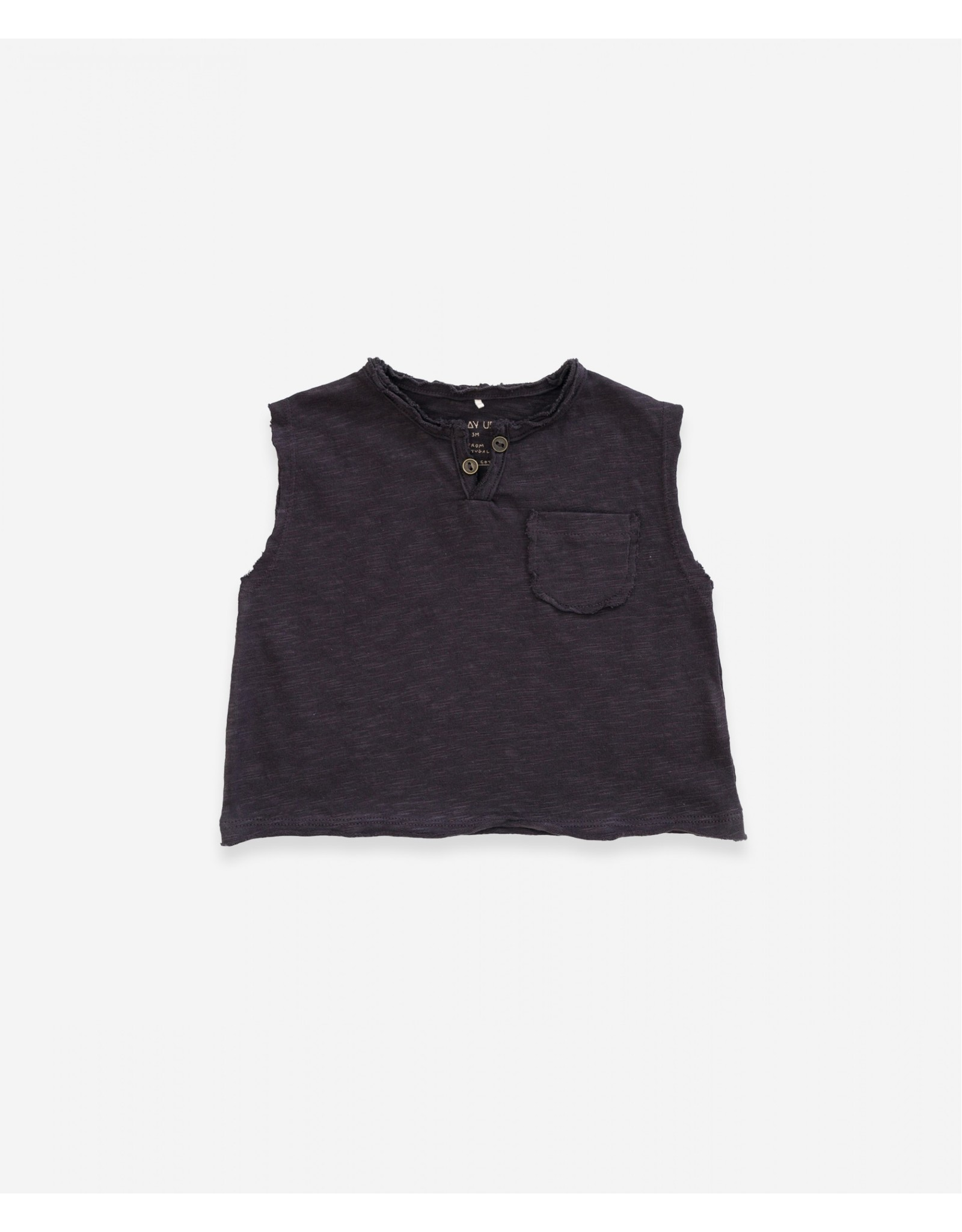 Play Up Play Up Flamé Jersey Sleeveless T-shirt Basalt