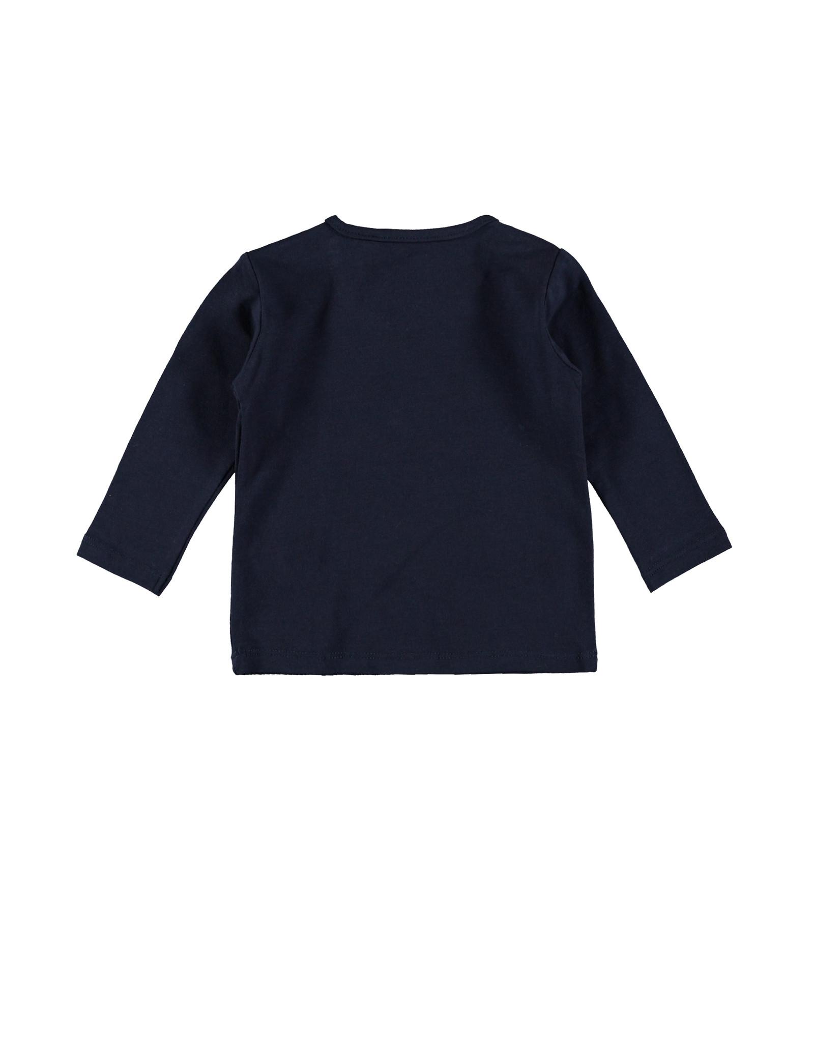 "Little Bampidano Bampidano-New Born T-Shirt Plain-""Navy"""