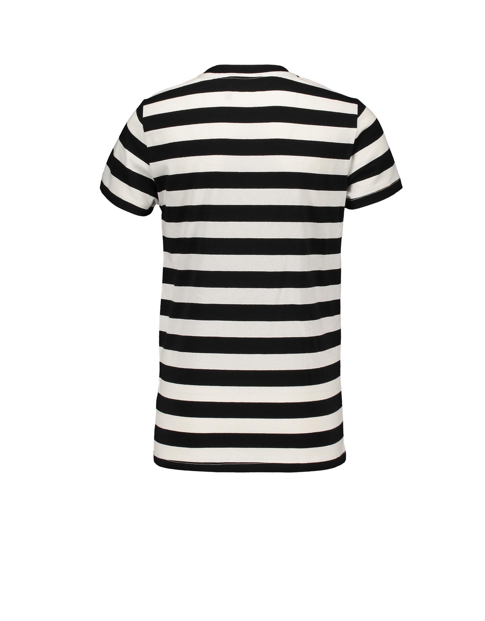 "Bellaire Bellaire-Kars AO Stripe T-Shirt-""Jet Black"""