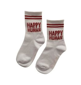 Cos I Said So Cos I Said So Happy Human Socks White/Red
