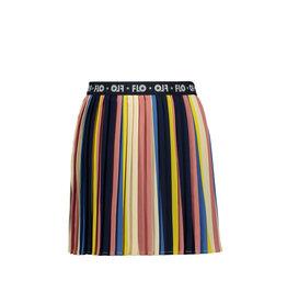 Like Flo Like Flo Girls Multi Stripe Plisse Skirt Multi