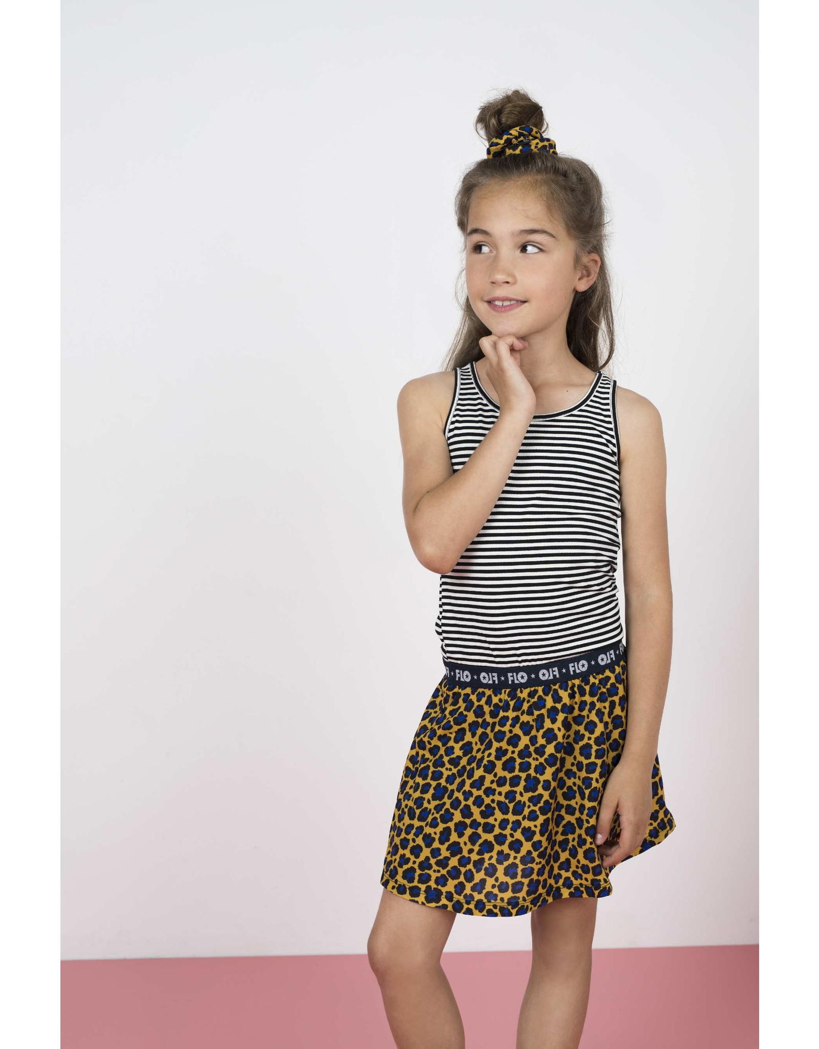 Like Flo Like Flo Girls 2pc Viscose Dot Dress AO panter /striped Tee Cobalt