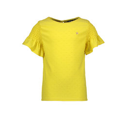 Like Flo Like Flo Girls Viscose Dot Top Yellow